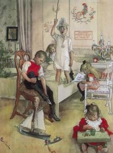 Carl_Larsson_Christmas_Morning_1894